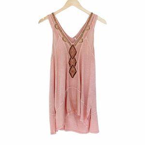 Free People Sleeveless Embellished blouse v-neck